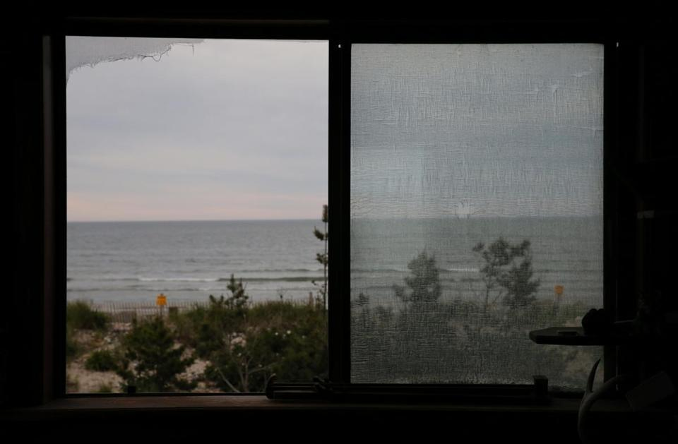 The ocean view from John Scagliarini's home on Long Beach in Plymouth.